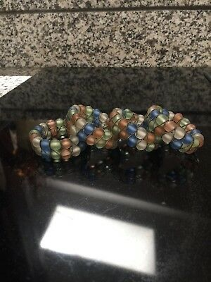 Napkin Rings Bead-work Modern Set of 4