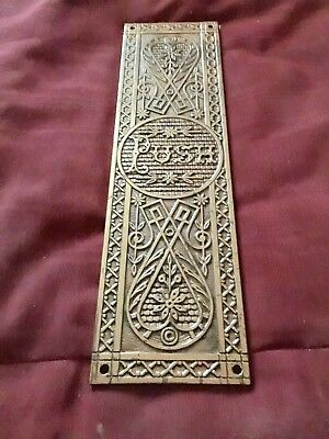 Antique Brass Door Push Plate