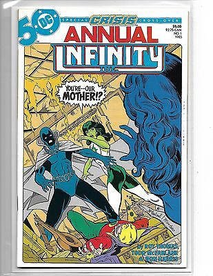 Infinity Inc Annual #1 Todd Mcfarlane Art Jade Obsidian Justice Society 1985