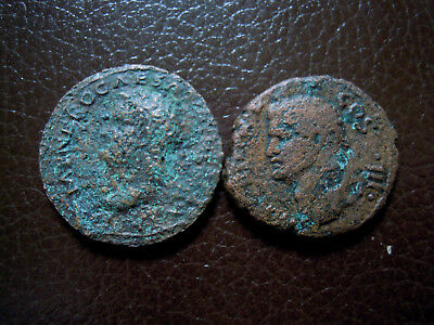 LOT 2 x BRONZE-AGRIPPA+NERO