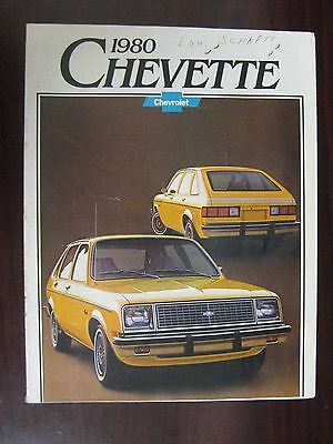 1980 Chevette Brochure Genuine Authentic Original Chevrolet Chevy GM