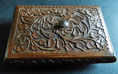 Decorative Carved Wooden Trinkets Box