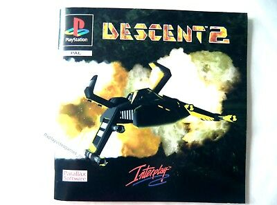 58516 Instruction Booklet - Descent 2 - Sony Playstation 1 (1995) SLES 00558