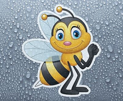 Cute bee - full colour self-adhesive printed vinyl sticker 1 - Larger sizes