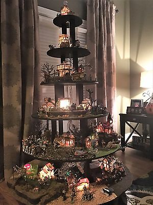 HOW TO BUILD Display Stand Dept 56 Lemax  HALLOWEEN village houses