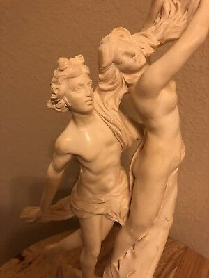 Vintage 1970s Composite Marble Resin Sculpture Of Apollo And Daphne By Italian