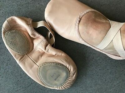 Bloch Leather Ballet Slippers, Split Sole, Size 3.5D