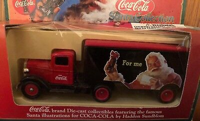 Coca Cola Classic Advertising 1935 Ford Delivery Trailer Truck With Santa