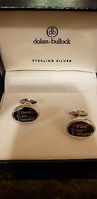Dolan Bullock Sterling Silver Cufflinks 925. New with Box