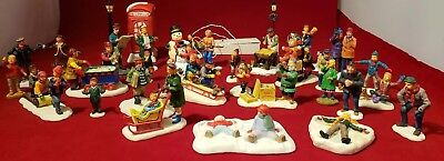 LEMAX CHRISTMAS VILLAGE ACCESSORIES FIGURES PEOPLE LOT OF 31 pieces