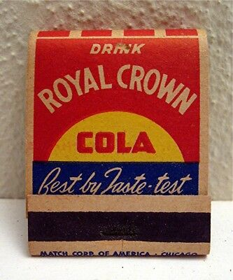 Royal Crown Cola Buy War Bonds & Stamps Full Adv Match Book Match Corp Chicago