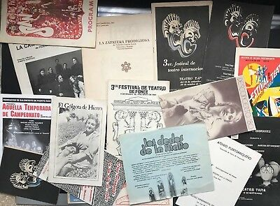 Puerto Rico ca1966-1990's Famous Theater Plays Programs/Pamphlets, lot of 18 ea.