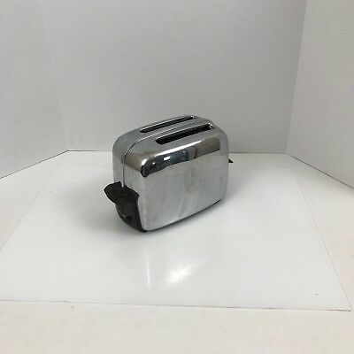 Vintage 1950's Toastmaster Pop Up Toaster 1B14 Chrome Cloth Cord