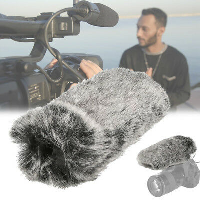 Fur Windscreen Windshield Wind Muff for Rode Lapel Lavalier Microphone Mic Grey
