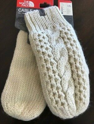 The North Face Cable Knit Mitt New with Tags Vintage White L/XL MSRP: $40