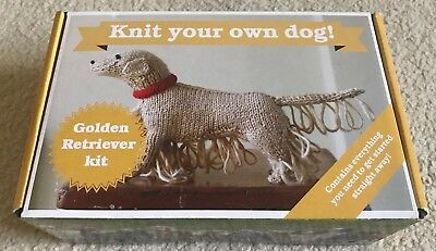 Knit Your Own Dog - Golden Retriever Kit. Knitting Kit And Pattern