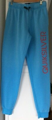 Nice BOYS track pants By QUICKSILVER Aqua Blue In EXCELLENT condition