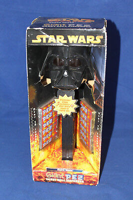 "STAR WARS DARTH VADER GIANT 12"" PEZ Candy Roll Dispenser WITH SOUND New In Box"