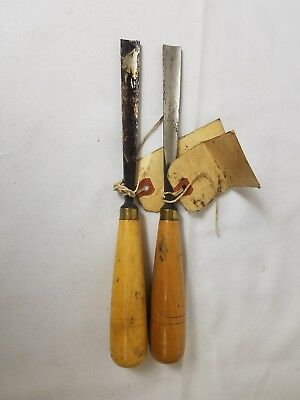 2- Buck Brother Bros Chisels.  Woodworking Hand Tools