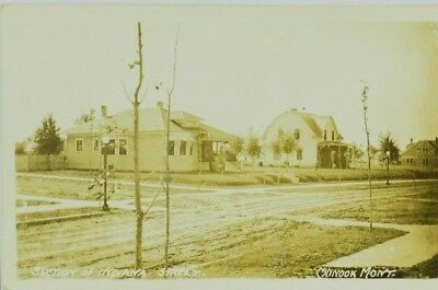 c.1910 Chinook Montana Section of Indiana Street Photo Postcard RPPC