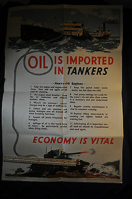 1943 WW2 UK Oil is Imported in Tankers