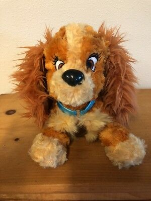 "Disney Parks Lady And The Tramp Lady Plush Stuffed Animal Soft Toy 12"" Dog"