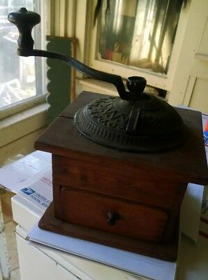 Antique Arcade Original Coffee Grinder Cast Iron Primitive
