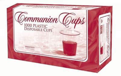 New Disposable Communion Cups Plastic Clear Box Of 1000