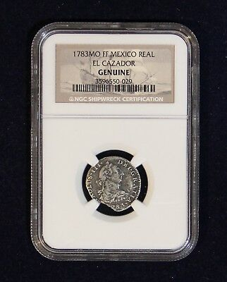 1783FF One (1) Reale Spanish Shipwreck El Cazador NGC Certified Genuine