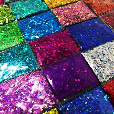 Triangle Glitter Rainbow Holographic Holo Nail Art Face Festival Crafts Tumblers