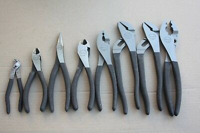 Craftsman 8 Pc Pliers Set w/ Bag Made in USA.