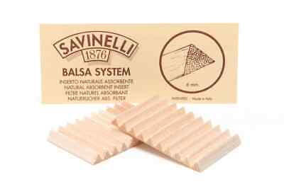 Filtros Savinelli en Balsa 6mm 60 Piezas Pipe Pfeife Filter Natural Made In