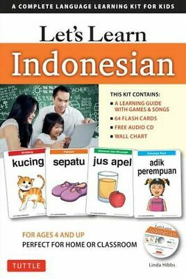 NEW Let's Learn Indonesian By Linda Hibbs Activity Kit Free Shipping