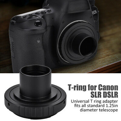 "Lens Adapter T-ring for Canon SLR DSLR Camera + 1.25"" Telescope Mount Adapter AU"
