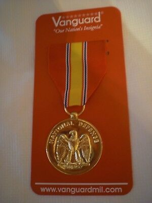 NATIONAL DEFENSE ANODIZED  MILITARY MEDAL  New by Vanguard