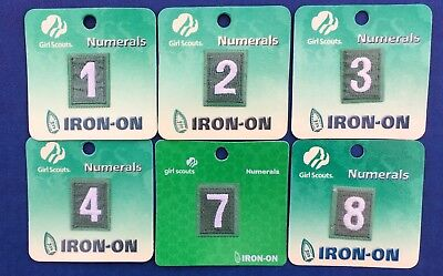 Girl Scout Junior Uniform Iron On Numeral
