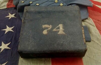 ** Original Antique Civil War 74Th Backpack Found In Hanover County Virginia **