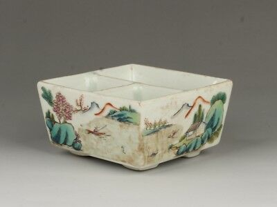 Chinese Exquisite Handmade landscape pattern porcelain Brush Washer