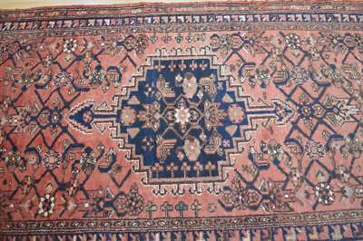 3'6x10 Genuine Semi Antique Persian Tribal Hand Knotted Oriental Wool Runner Rug