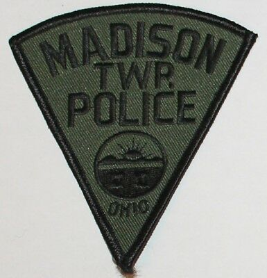 MADISON TOWNSHIP POLICE Subdued Ohio OH PD Tactical SWAT patch