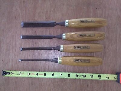 Vintage Marples Ridgway Wood Carving Chisels Woodworking Tool