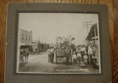 Antique Cabinet Photo 1908 Crop Tucumcari New Mexico Melons & Main Street
