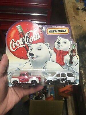 Coca cola matchbox cars. 1956 Ford Pickup. 1998 Ford Expedition.