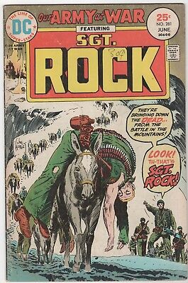 Our Army At War #281 In Very Good 4.0 Condition (June, 1975, DC)