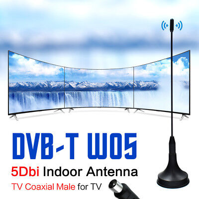 Indoor HD Digital TV Aerial Freeview Mini Antenna Portable Magnetic Base DTA180