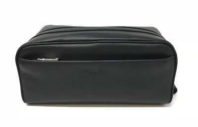 Coach Men's Travel Kit Toiletry Bag Smooth Calf Leather Black F58542 $175