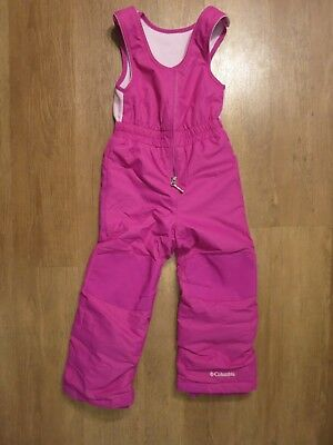 Columbia Girl's Purple Omni-Tech Insulated Snow Pants Bibs Size 4- 5 XXS