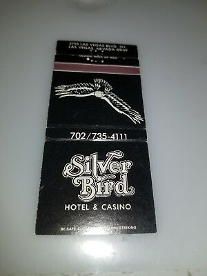 Vintage Matchbook Cover Silver Bird Hotel And Casino Las Vegas
