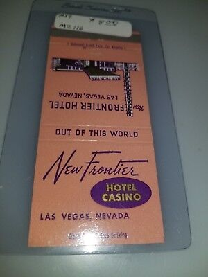 Vintage Matchbook Cover New Frontier Hotel And Casino Las Vegas Nevada