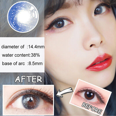 1Pc Women Round Big Eyes Party Makeup Cosmetic Contact Lense Commode